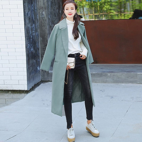 Thicken Long Lapel Jacket