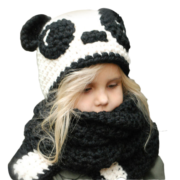 Winter Kids Crochet Hat + Scarf Set