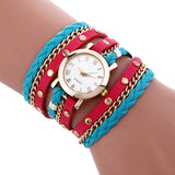 Wrap Around Fashion Bracelet Lady Womans Wrist Watch - Offy'z6
