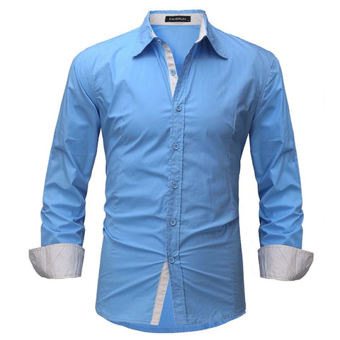 Casual Long Sleeve Soft Cotton Top Dress Shirt Plus Size