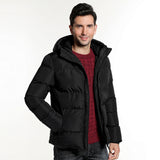 Broadcloth Hooded Cotton Thick Jacket - Offy'z6