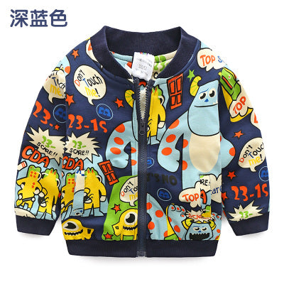 Monster Pattern Kids Coat