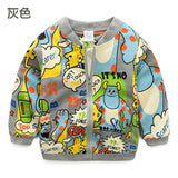 Monster Pattern Kids Coat - Offy'z6
