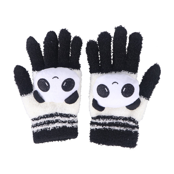 Womens Girls Cute Animal Winter Warm Wool Touchscreen Gloves Mitten Texting Gloves for Electronic Devices iPhone iPad Tablet Android Phones Best Present for Xmas Day Birthday New Year