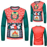 Men's Winter Xmas Long-sleeved T-shirt - Offy'z6