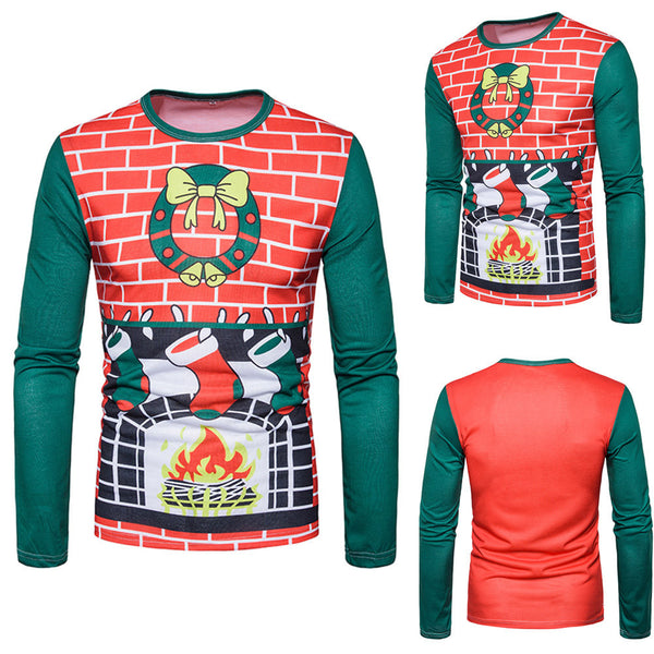 Men's Winter Xmas Long-sleeved T-shirt