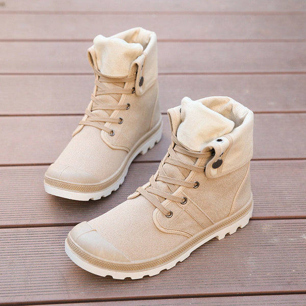 High-top Military Ankle Boots