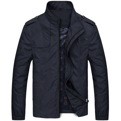 URBANFIND Stand Collar Man Fashion Jackets Size M-4XL Zipper Closure Men Solid Coats Simple Style Male Spring Autumn Outerwears