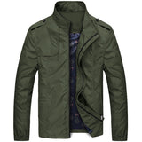 URBANFIND Stand Collar Man Fashion Jackets Size M-4XL Zipper Closure Men Solid Coats Simple Style Male Spring Autumn Outerwears - Offy'z6