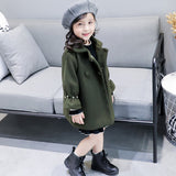 UOIPAE Kids Jacket Winter 2017 Casual Plus Thick Plus Coat For Girls Long Sleeve Solid Simple Children Clothing 4101M - Offy'z6