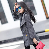 Long Sleeve Zipper Girl's Coat - Offy'z6