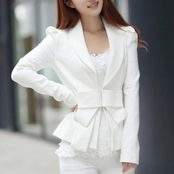 New Women's Butterfly Bow tie Coat