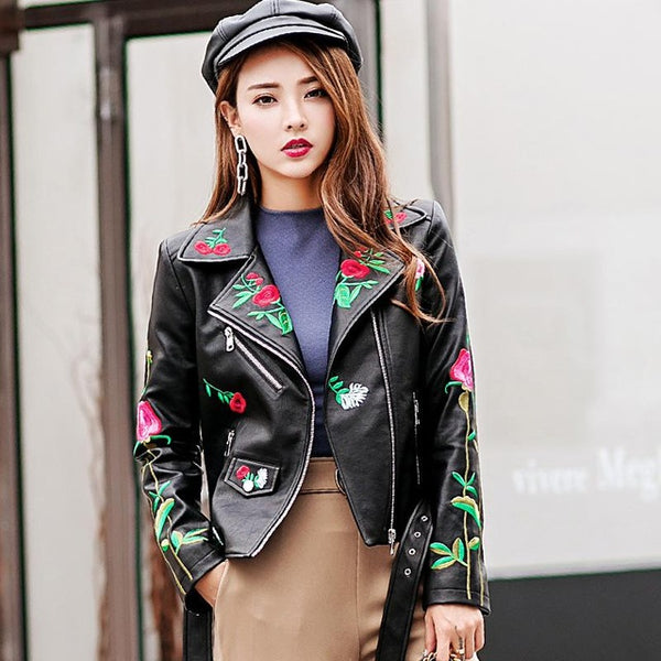 Women's Elegance  Leather Jacket/Coat