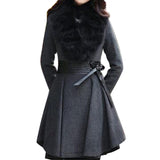 Fur Collar Outwear Overcoat - Offy'z6