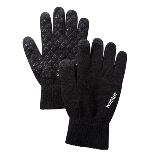 Screen Knitted Patchwork Gloves