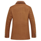 Wool Blend Slim Thick Cashmere Trench Coat - Offy'z6