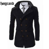 Men's Double Breasted Overcoat - Offy'z6