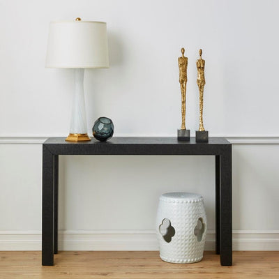 Photo of Bungalow 5 CLEMENT STOOL/ SIDE TABLE, WHITE textured-cut-table-white-cmt-500-109