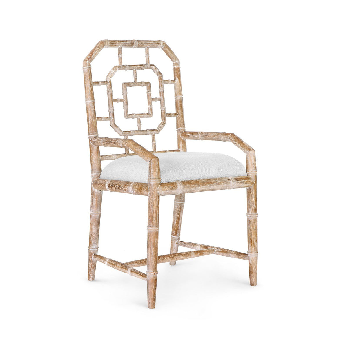 Photo of Bungalow 5 GEORGICA ARMCHAIR, NATURALcarved-mahogany-octagonal-armchair-natural-geo-555-98