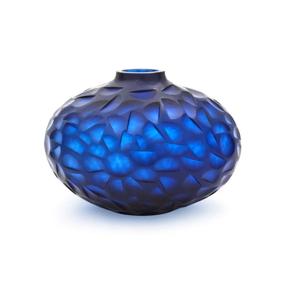 Photo of Bungalow 5 MIRO VASE, INDIGO BLUE chiseled-vase-blue-mro-700-78