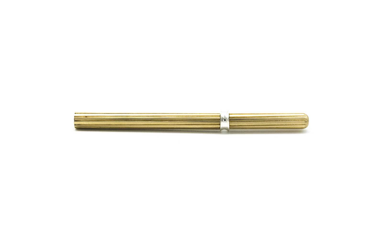 Art Deco Fluted One-Hitter Pipe | Luxury Flower/Herb Smoking Experience - Greige