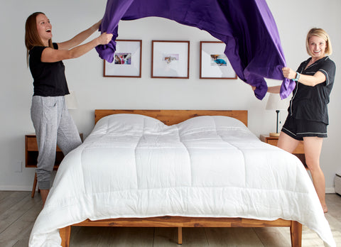sheets and giggles eucalyptus sheets are soft, hypoallergenic, moisture-wicking, and perfect for billowing