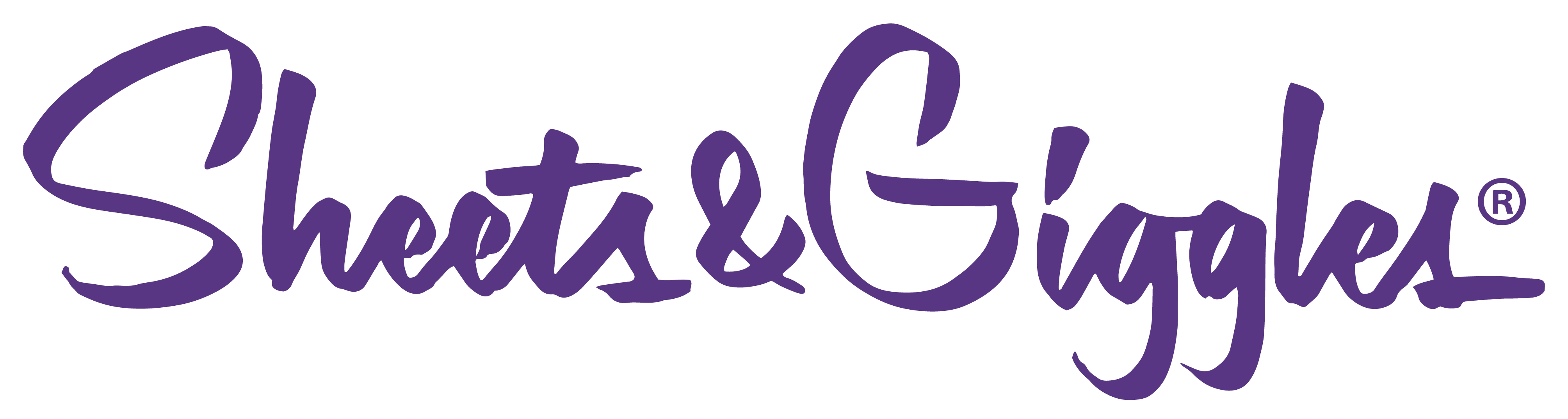 Sheets & Giggles logo png purple