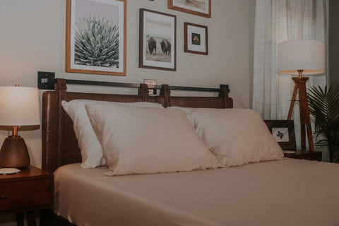 eucalyptus sheets on a bed