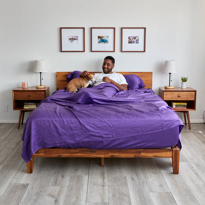 Eucalyptus Lyocell Sheet Sets - Purple