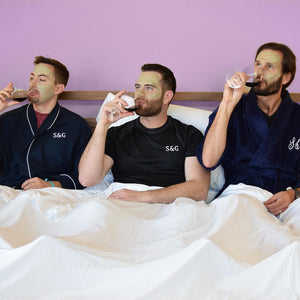 Eucalyptus sheets, 3 guys in a bed, talking about Tencel