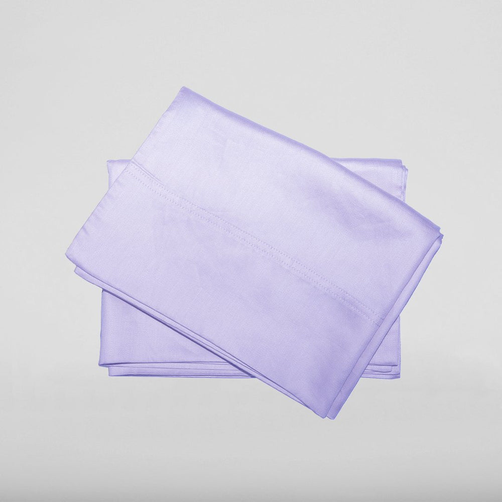 Our eucalyptus pillowcases in lavender are soft and hypoallergenic