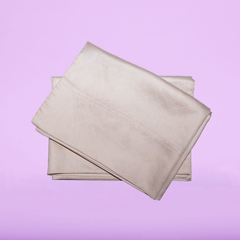 Our eucalyptus pillowcases in pearl are soft and hypoallergenic