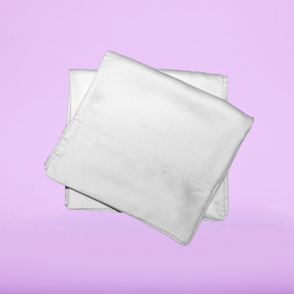 Our eucalyptus pillowcases in white are soft and hypoallergenic