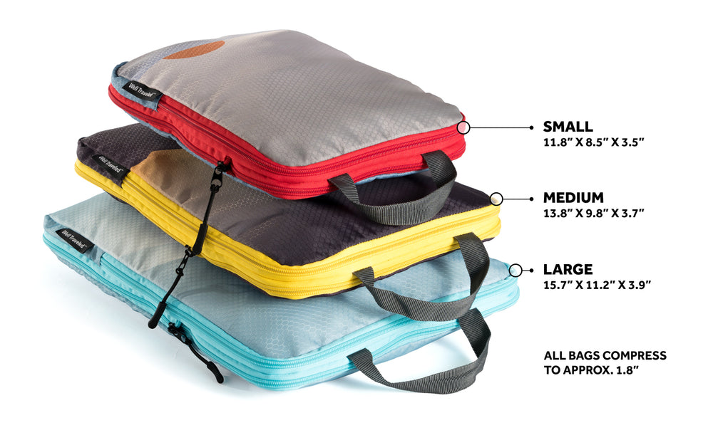 3-Piece Compression Packing Cubes Set