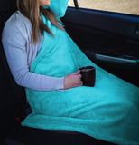 Travel Blanket Pillow - Fleece Throw Blanket with Stuffable Pillow Case