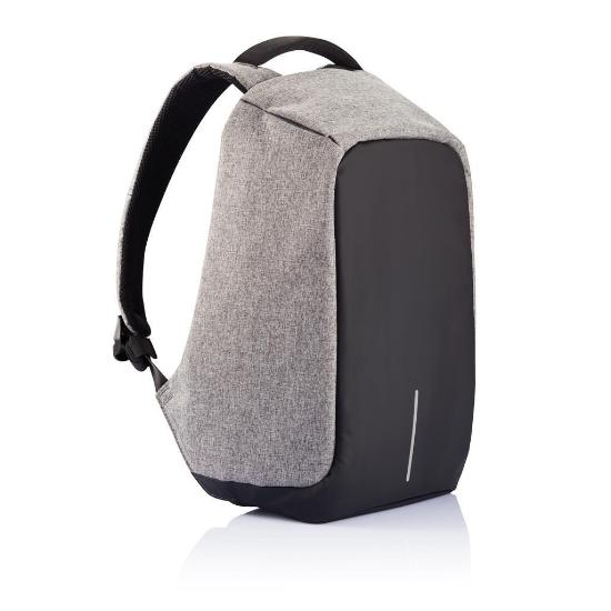 Mochila Bobby backpack antirrobo impermeable gris con negro xd design