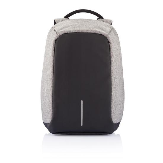 Mochila Bobby anti theft backpack gris vista frontal