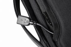 Bobby Bizz anti theft backpack & briefcase negro USB para cargar teléfono celular