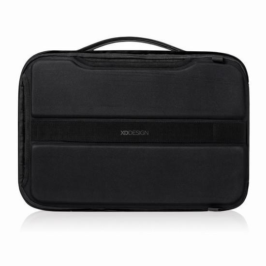 Bobby Bizz anti theft backpack & briefcase negro vista lateral portafolios vista trasera