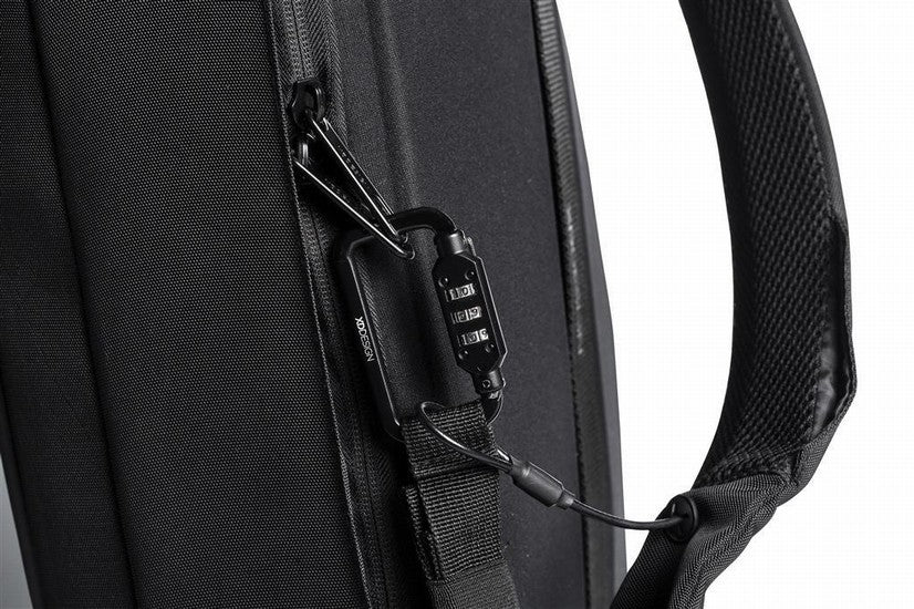 Bobby Bizz anti theft backpack & briefcase negro candado integrado para evitar robo