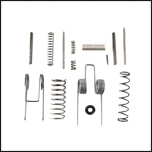 "Product review of <a href=""mailto:https://www.garretmachine.com/collections/weapon-maintenance/products/ar15-inconel-600-spring-survival-kit"">Never Wear Springs AR15 replacement spring kit</a>"