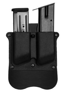 Polymer pouch for two magazines, with adjustment screw. Fits 9mm/.40 magazines - Paddle version