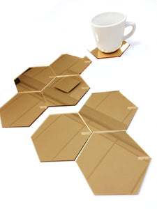 EEP Coaster Gold Mirror