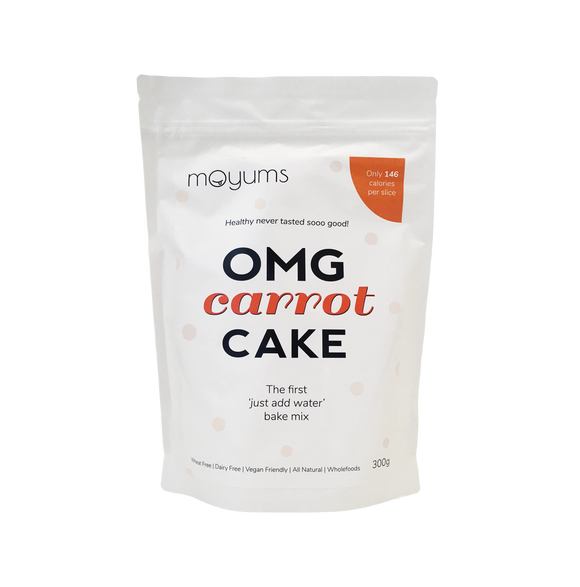 Moyums - Carrot Cake - Healthy Bake Mix Australia