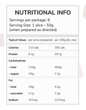 Moyums - Chocolate - Healthy Bake Mix Australia - Nutritional Information