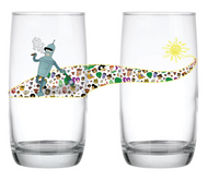 "Glass #45 ""Walkin On Sunshine"" 17oz"