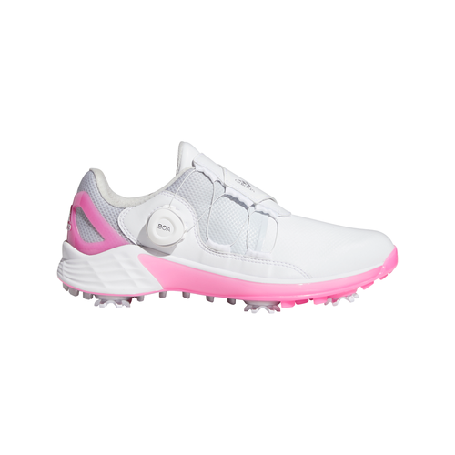 adidas ZG21 BOA Golf Shoes FTWR WHITE/SILVER MET./SCREAMING PINK