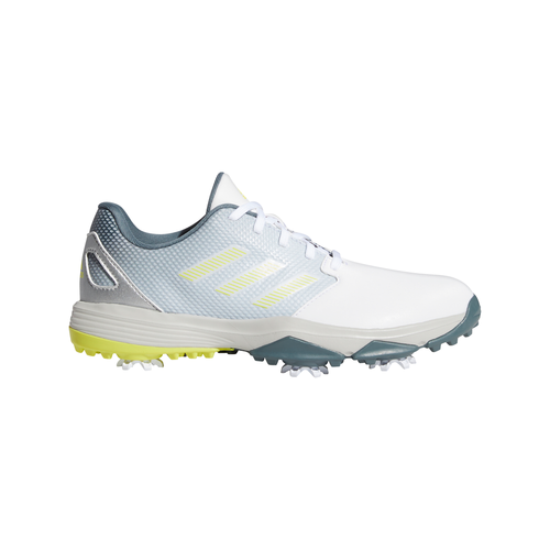 adidas ZG21 Junior Golf Shoes FTWR WHITE/ACID YELLOW/BLUE OXIDE