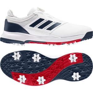 adidas Traxion Lite BOA 2.0 Golf Shoes FTWR WHITE/CREW NAVY/SCARLET