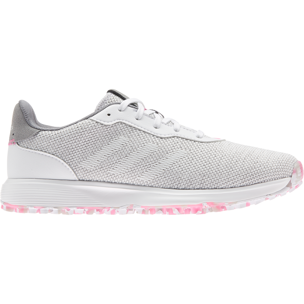 adidas S2G Spikeless Golf Shoes GREY THREE/FTWR WHITE/SCREAMING PINK